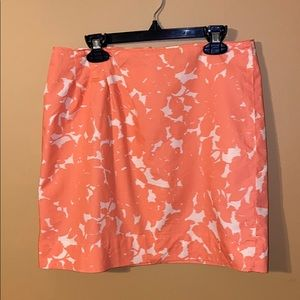 J. Crew orange mini shirt size 0